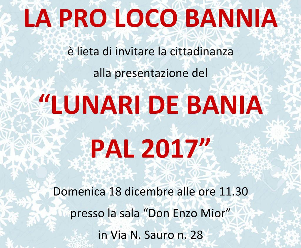 Presentazione Lunari de Bania pal 2017