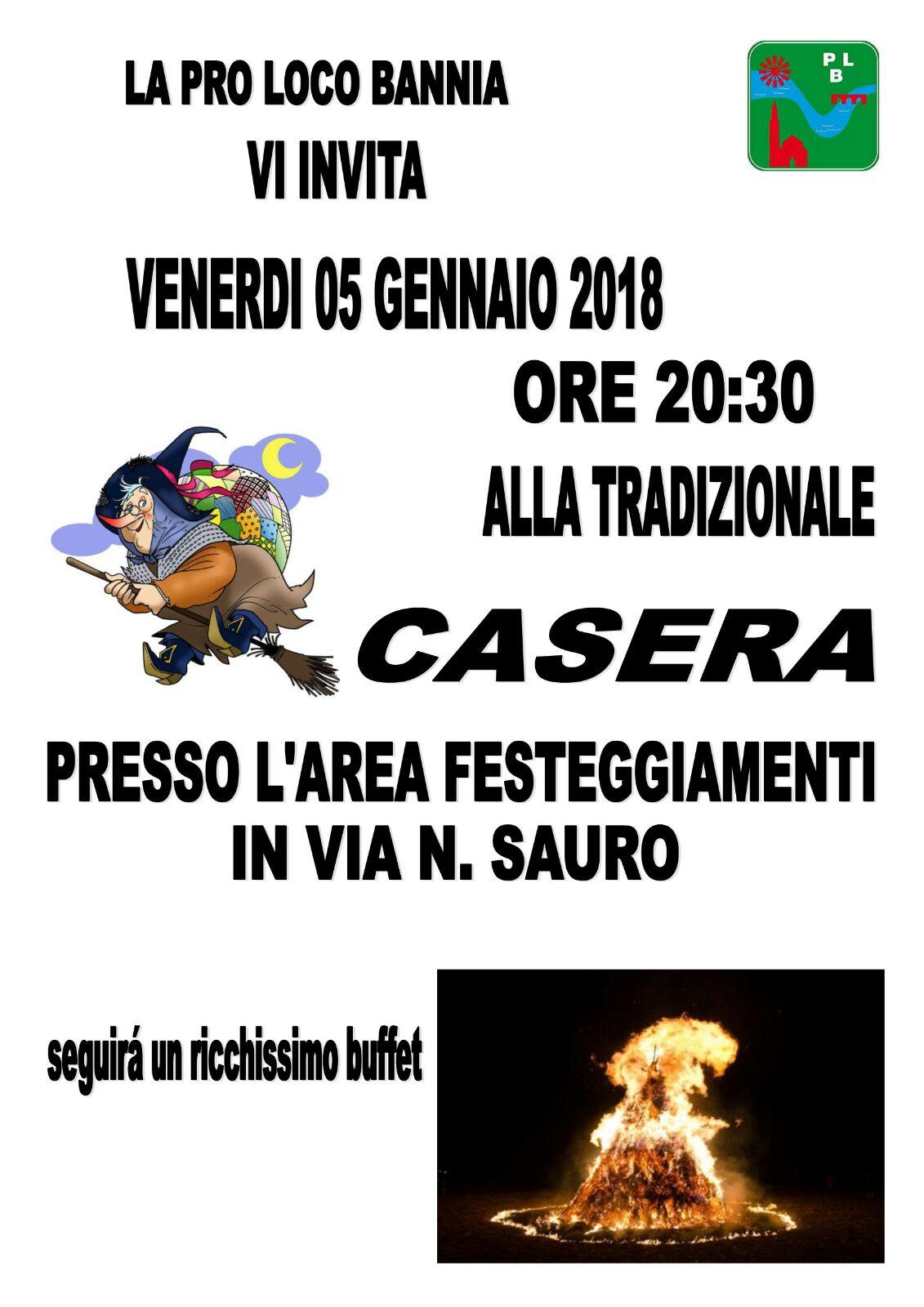 Casera 2018 ore 20.30